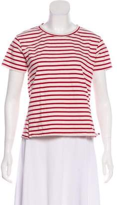 Amo Striped Short Sleeve Top