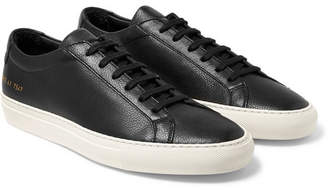 Common Projects Original Achilles Full-Grain Leather Sneakers - Black