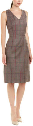 Carolina Herrera Silk-Lined Wool Sheath Dress