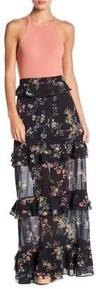Otis AFRM Ruffle Maxi Skirt