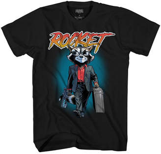 Novelty T-Shirts Rocket 80s Vice Graphic Tee