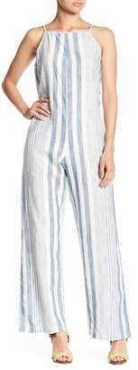 Angie Striped Square Neck Jumpsuit