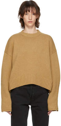 Proenza Schouler Tan Wool Cashmere Sweater
