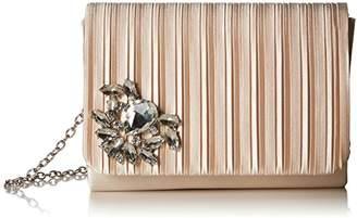Jessica McClintock Katie Pleated Flap Evening Clutch Shoulder Bag
