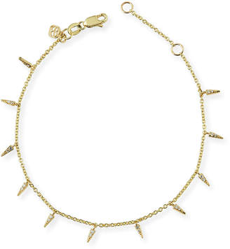 Sydney Evan Fringe Charm Bracelet with Diamonds
