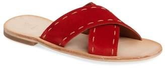 Frye Avery Pickstitch Slide Sandal