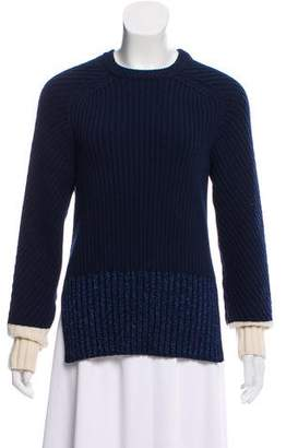 Cédric Charlier Wool Rib Knit Sweater
