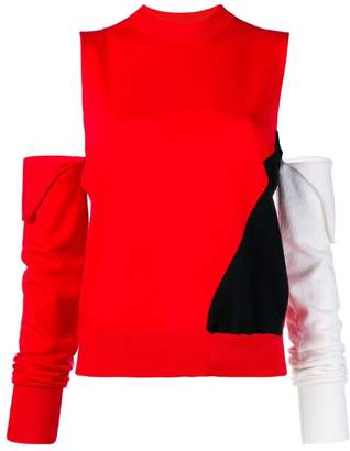 Calvin Klein cut-out colour-block sweater