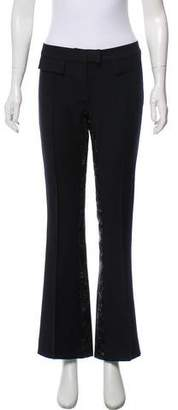 John Galliano Wool Mid-Rise Pants