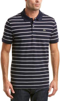 Lacoste Classic Fit Chemise Col Bord-Cotes Pique Linen-Blend Polo