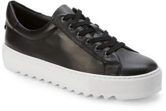 J/Slides Black Sapphire Leather Platform Sneakers