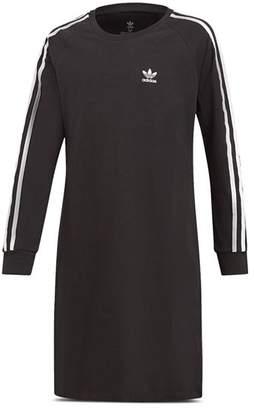 adidas Girls' Long-Sleeve T-Shirt Dress - Big Kid