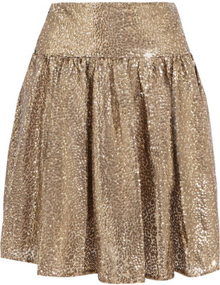 MICHAEL Michael Kors - Sequined Tulle Mini Skirt - Gold $185 thestylecure.com