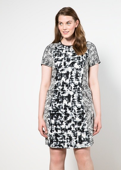 Violeta BY MANGO Monochrome Print Dress