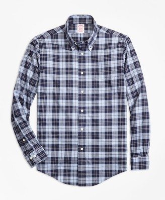 Brooks Brothers Madison Fit Plaid Flannel Sport Shirt