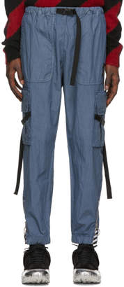 Off-White Blue Parachute Cargo Pants