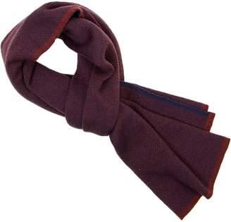 40 Colori - Burgundy Three Designs Wool Scarf