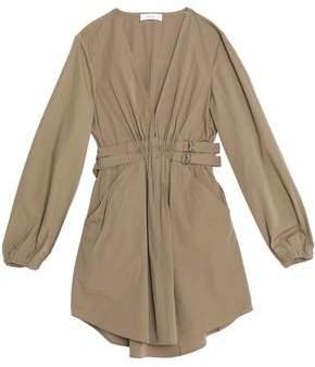 A.L.C. Gathered Cotton-Blend Mini Dress