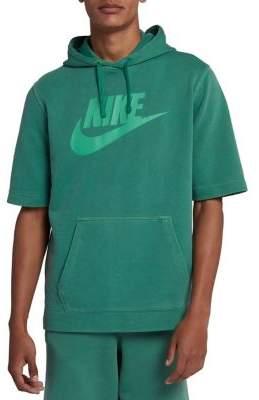 Nike Short-Sleeve Logo Fleece Hoodie
