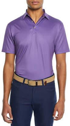 Peter Millar Men's Tazza Print Jersey Polo Shirt