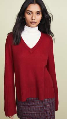 Autumn Cashmere Loose Gauge V Neck Cashmere Sweater