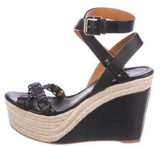 Ralph Lauren Purple Label Platform Ankle-Strap Sandals