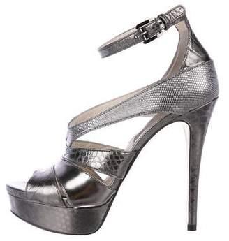 MICHAEL Michael Kors Metallic Platform Sandals