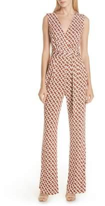 Diane von Furstenberg Terria Sleeveless Silk Jumpsuit