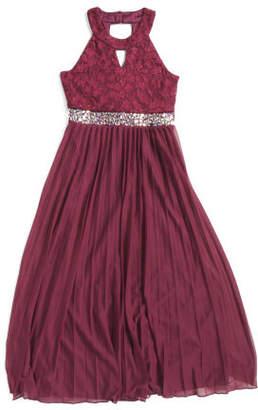 Big Girls Jeweled Waist Maxi Special Occasion Dress