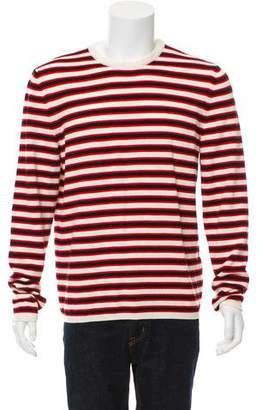 Saint Laurent Striped Crew Neck Sweater