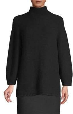 Max Mara Etrusco Wool& Cashmere Mockneck Sweater