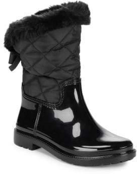 Kate Spade Reid Mixed Media Faux Fur Boots