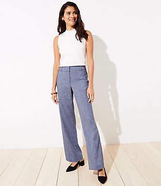 LOFT Textured Trousers