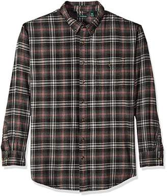 Bass Men's Big and Tall Fireside Flannel Plaid Long Sleeve Shirt