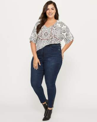 Penningtons Slightly Curvy High Rise Skinny Jean with Ankle Zips - d/C JEANS