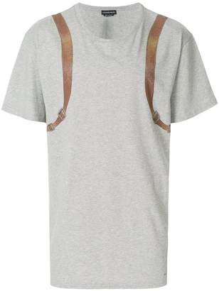 Alexander McQueen trompe l'oeil backpack T-shirt