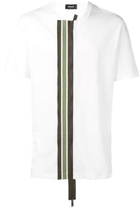 DSQUARED2 zip detail T-shirt