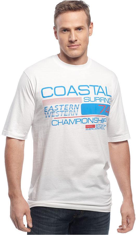 Izod Big and Tall Shirt, Coastal Graphic T-Shirt