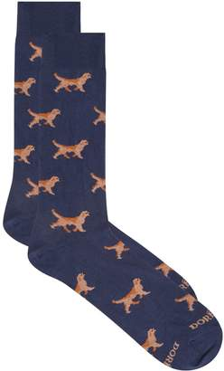 Dore Dore Dog Print Socks