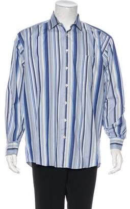 Burberry Striped Button Shirt