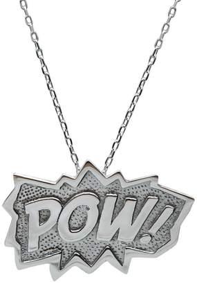Edge Only - Pow Pendant Extra Large in Silver