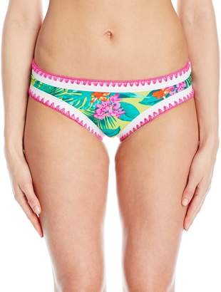 Betsey Johnson Womens Swimwear Women's Betsey's Tropical Escape Hipster Bikini Bottom