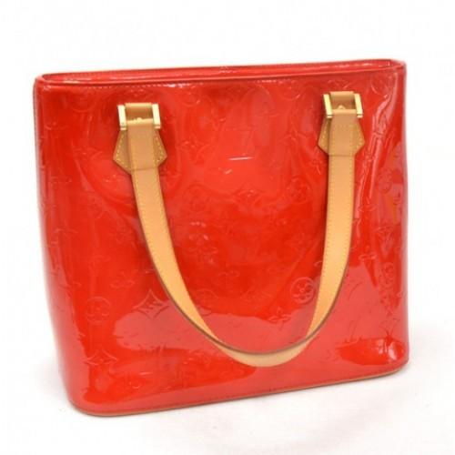 Louis Vuitton very good (VG Red Monogram Vernis Houston Bag