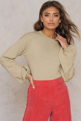 NA-KD Na Kd Big Sleeve Sweater Beige