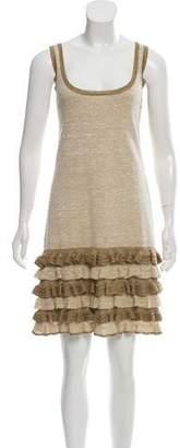 Diane von Furstenberg Claire Linen & Silk-Blend Dress