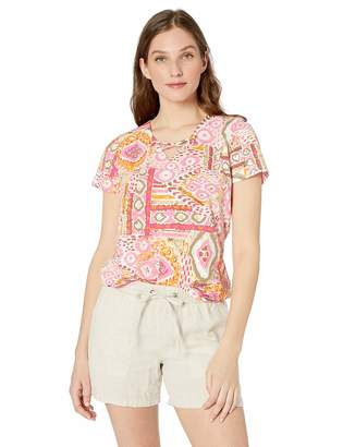 Caribbean Joe Women's Short Sleeve Essential Criss Cross Top