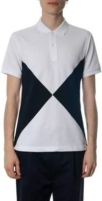 Burberry White & Blue Cotton Polo Shirt
