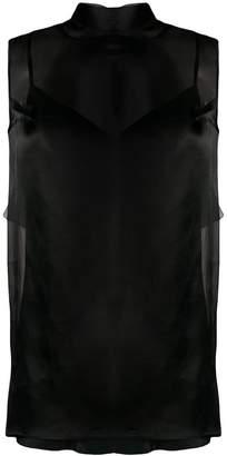 Ermanno Scervino sheer back tie blouse