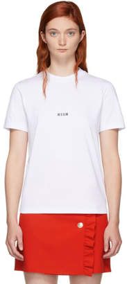 MSGM White Mini Logo T-Shirt
