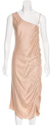 Barbara Casasola One-Shoulder Midi Dress